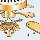 конструктивные элементы потолочного вентилятора